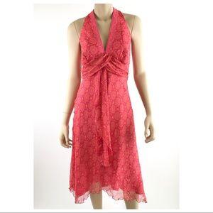Laundry by Shelli Segal Silk Twist Halter Dress